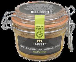 Délice de Foie Gras de Canard des Landes aux pommes 130gr