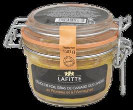 Délice de Foie Gras de Canard des Landes au pruneau et à l'Armagnac 130gr