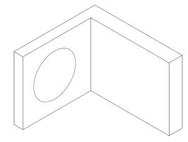 Serie Edap, Wandwinkel 90° nach außen, innen glasbündig, Art.Nr. 6035