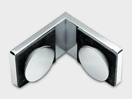 Serie Eido S40, Glas-Glas-Winkel (Festteil an Festteil im 90°-Winkel), Art.Nr. 400005