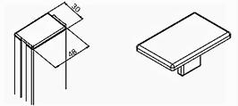 Abdeckkappe für GR-Profil eckig (74127), Art.Nr. 75034