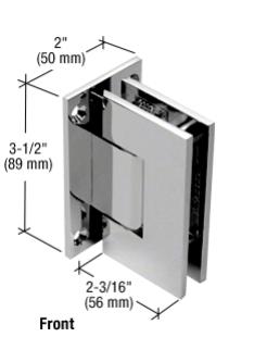 Serie Geneva, Pendel-Wand-Scharnier, eckig - GEN337, Winkel einstellbar, Chrom, für Wandmontage, beidseitige Anschraubplatte