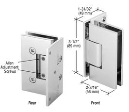 Serie Geneva, Pendel-Wand-Scharnier, eckig - GEN344, Winkel einstellbar, Chrom, für Wandmontage, einseitige Anschraubplatte