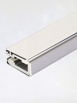 Klemmprofil-Set mit eckigen Abdeckprofilen, Typ GR für Glasdicke 8 mm, inkl. L-Profil 13 x 13 mm für LED-Lichtband