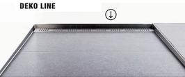 Fliesen Dekorprofil Deko-Line für Wand ohne Gefälle bzw. als stirnseitiges Verbindungsprofil der beiden Gefällekeile,  Chrom glanz; Art.Nr. DL-CHR