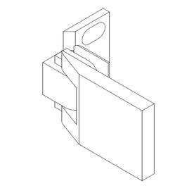 Serie Edap, Wand Pendelscharnier, fluchtend 180°, innen glasbündig, Art.Nr. 6050