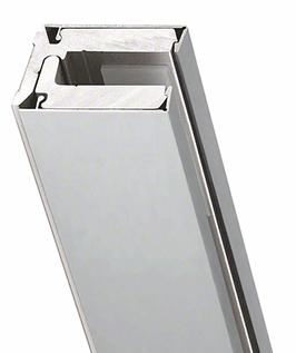 Klemmprofil-Set mit Abdeckprofilen, Tpy CR für Glasdicke 8 bzw. 10 mm