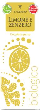 Rohe Bitterschokolade mit Zitrone und Ingwer BIO