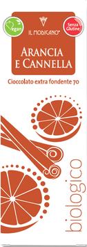 Extra dunkle Schokolade mit Orange und Zimt BIO