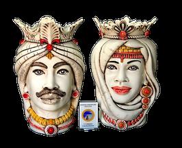Paar Keramikköpfe -Testa di Moro - Stile antico