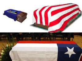 Bandera cubre féretros