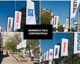 Banderas Vela, Pluma, Gota y Rectangular (banners de exterior e interior)