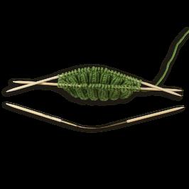 Круговые носочные спицы Addi CraSyTrio Bamboo
