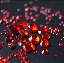 Steinchen Rot rund 1,8mm 100 stk.