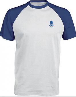 T-shirt Base-ball bleu et blanc