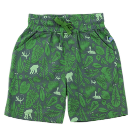 Jersey Shorts Jungle Druck in olive-leaf green, Artikelnr. 201 09 03