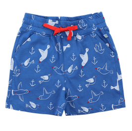 Jersey Shorts Möwendruck in blue-white, Artikelnr. 201 10 02