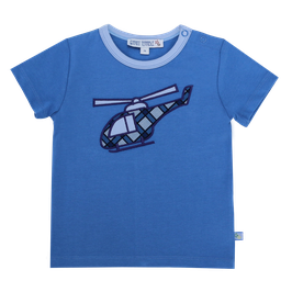 Baby T-Shirt mit Helikopter in blue, Artikelnr. 201 40 10