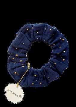 SCRUNCHIE glitter navy