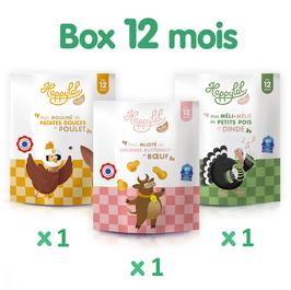 Box découverte 12 mois - 3 repas