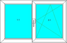 Fix; Dreh-Kipp-Rechts Softline 82MD, Farbe: Weiß
