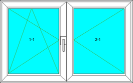 Dreh-Kipp-Links; Dreh-Rechts Softline 82MD, Farbe: Weiß