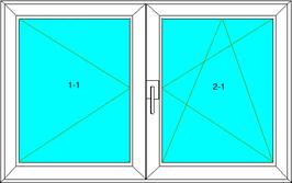 Dreh-Links; Dreh-Kipp-Rechts Softline 82MD, Farbe: Weiß
