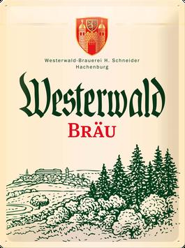 """Blechschild """"Westerwald-Bräu"""""""