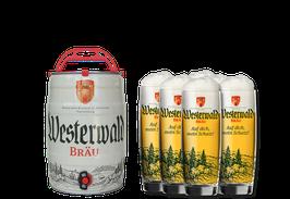 6er-Set WW-Bräu Gläser 0,3 l Individual + 1 Partyfass 5 l Westerwald-Bräu