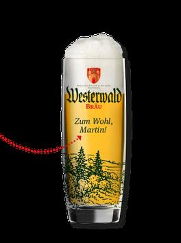 Bedrucktes WW-Bräu Glas 0,3L - Vornamen & Wäller Motive!