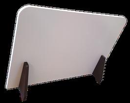 Panneau de protection séparation, mélaminé 19mm, pied médium noir 19mm