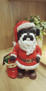 Bouledogue père Noël