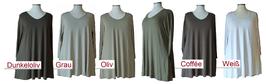 SpecialSize Longshirt in A-Form mit Taschen BasicColors (SPS-883)