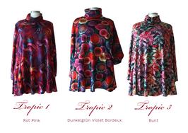 Tropic Design Pullover mit Rollkragen in A-Linie (RP-01-04-07) (P-362)