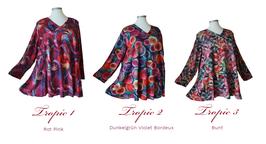 Tropic Design Pullover mit V-Ausschnitt in A-Linie (PV07-10-11-3F)-(P-332)