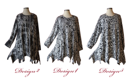 Flauschiger Zipfel Pullover mit Taschen und Knöpfe / Design-Nr.2-4-5