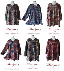 Fantasy Design Pullover mit V-Ausschnitt in A-Linie (PV08-09-15-16-17-18-6F)-(P-334)