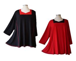 Color-Kombination Longshirt Tunika (LA-261)