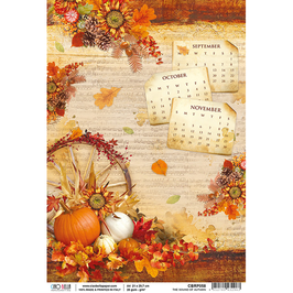 Ciao Bella Reispapier-The Sound of Autumn CBRP058