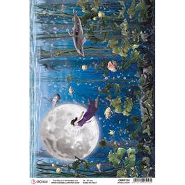 Ciao Bella Reispapier-Moon & Me CBRP138