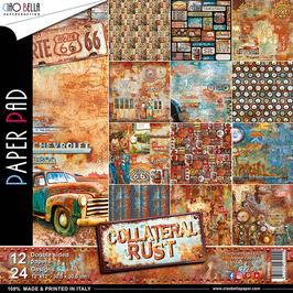 Scrapbooking Papier Ciao Bella-Collateral Rust (1) 12x12""