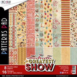 """Ciao Bella-Paper Pad The Greatest Show (2) 12x12"""""""