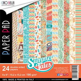 "Scrapbooking Papier Ciao Bella-Summer Tales 6x6"""