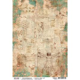 Ciao Bella Reispapier-Codex Leonardo CBR037