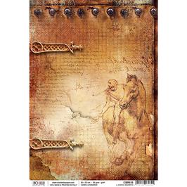 Ciao Bella Reispapier-Codex Leonardo CBR035