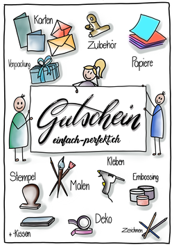 Gutschein Karte - Design by Mrs. Deere Arts