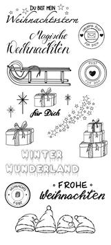 einfach-perfekt-Clear Stamps/Weihnachts Kollektion #002