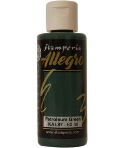 Stamperia Allegro Paint-Petrolium Green