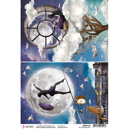 Ciao Bella Reispapier-Moon & Me CBRP139