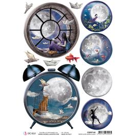 Ciao Bella Reispapier-Moon & Me CBRP140